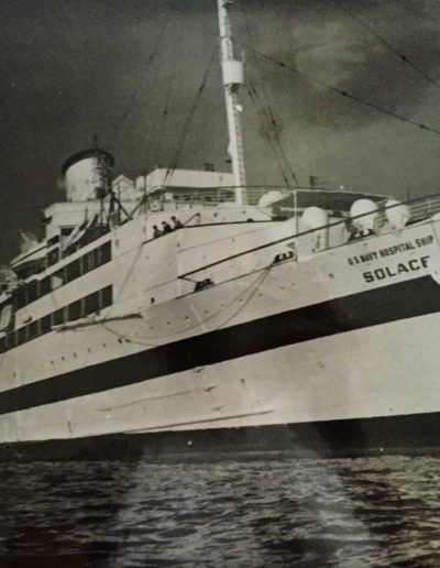 Initially at night, the lighted hospital ship would sail out to sea, as hospitals were not supposed to be attacked. But, after Miller's ship was attacked it stayed with the fleet.
