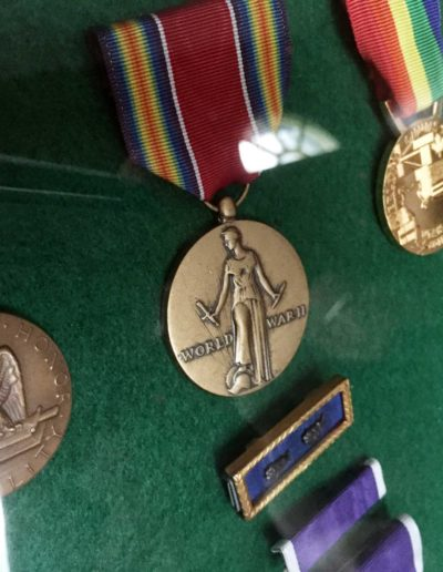 Charles Holcomb's metals from his service during WWII.