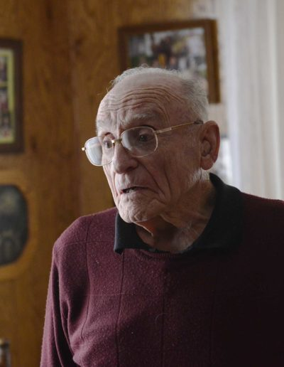 Charles Holcomb served three years in the U.S. Air Force during WWII.