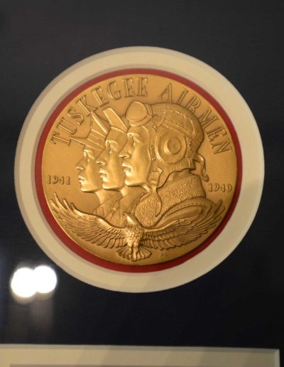 Harold H. Brown received the Congressional Gold Medal awarded to the Tuskegee Airmen in 2007 for their service during WWII.