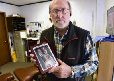 Paul Silcox of Fremont holds a photo of his son, Joey, who was 25 when he died of a drug overdose on Nov. 12, 2016. Heroin, fentanyl and cocaine were found in his son's system after his death. In 2016, drug overdose deaths doubled in Sandusky County from the previous year. Disguised as heroin, more powerful synthetic painkillers are causing an increase in overdose deaths in Sandusky County.