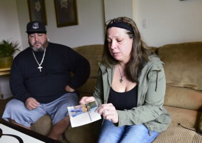 Nancy Copeland, right, and Shane Durbin remember their son, Martel Copeland, who died from a drug overdose on Aug. 27, 2016. His family tried to get him into a Florida rehab center, then took him to Toledo. A treatment center had a bed available, but Copeland didn't have his medical insurance card on him and was turned away.