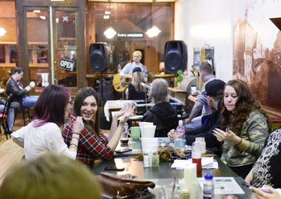 At the open mic night, people in recovery stream into the restaurant well after 9 p.m. from Clyde, Fremont, Tiffin, Republic, Genoa and Sandusky to listen to live music over a cup of coffee. They come to hang out with other sober people.