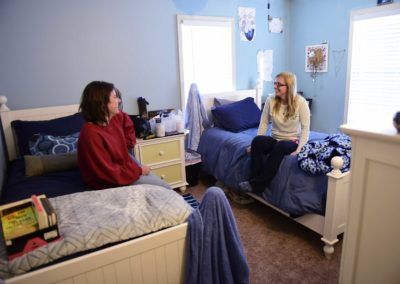 Recovering meth addict Ashley Ammerman, 23, left, said it is her fifth time trying to stay clean, and finds support with her roommate, recovering heroin addict Alexandria Lowery, 26.