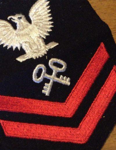 James Reardon's navy rank insignia from WWII.