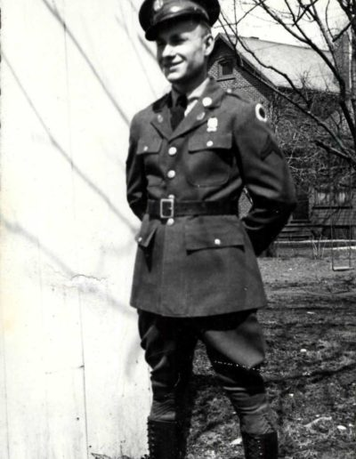 Jim McGrady shown in a photo from 1938, when he served in the infantry from 1936 to 1939.