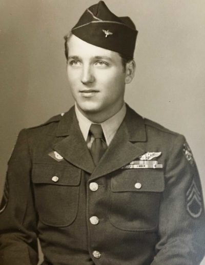 Leo Bundschuh (Oct. 30, 1925 – ) enlisted into WWII, serving in the Army Air Corps, 2nd Bomb squadron, 22nd Bomb Group, 5th Air Force from Jan 1943 – Dec. 1945. He reached the rank of staff sergeant.