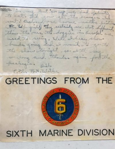 Willer kept a letter he wrote and sent home during World War II.