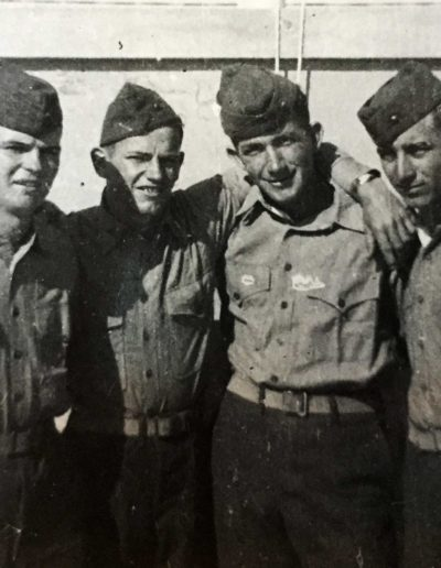 Willer, second from left, was not allowed a camera during World War II. He had his parents send him a camera after the war ended.