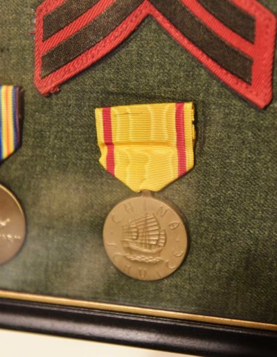 Willer's medals awarded for serving in World War II, from left, China and the Pacific.