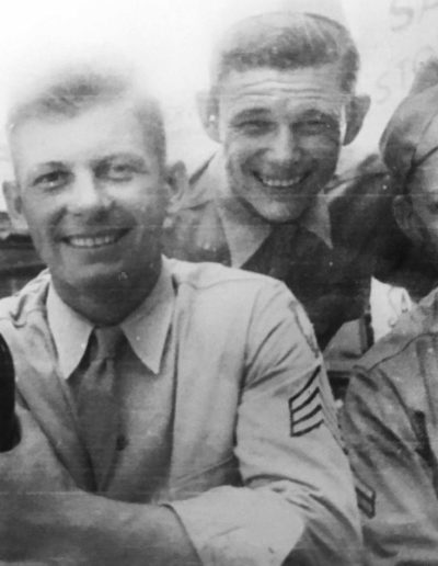 Robert Parman, far right, was 18 years old when he was drafted into WWII. He was 21 years old when he was honorably discharged.