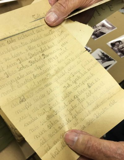 After WWII, a German woman wrote Robert Parman's family, asking if he survived the war. Parman had stayed in herehouse in while serving in Treffurt, Germany.