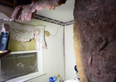 """Kevin Weyer said he fears the house has structural damage from the tornado. """"Inside there are a lot of walls that are cracked, ceilings that are cracked,"""" he said. """"It's more than meets the eye on the outside."""""""
