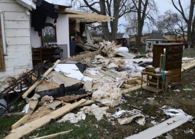 The National Weather Service determined an EF 1 tornado hit Townsend Township with winds as high as 100 miles per hour on Nov. 5, 2017.