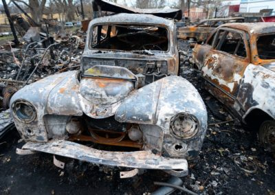 A 1948 Ford burned in the barn fire on Oct. 14, three weeks before the tornado severely damaged the Weyer's house. The family took the vintage cars to shows around Ohio, Michigan and Indiana.